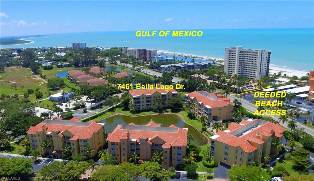 SW Florida Real Estate - View SW FL MLS #220016544 at 7461 Bella Lago Dr 221 in BELLA LAGO in FORT MYERS BEACH, FL - 33931